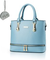 Micom 2016 Summer Ladies Solid Pu Leather Purse Zip Tote Handbags for Womens