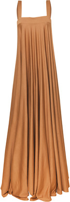 Andres Otalora Narciso Sleeveless Stretch Crepe Maxi Dress