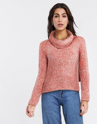 Free People high neck jumper in red