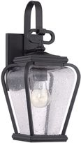 Quoizel Province Single-Light Wall Mount Outdoor Lantern in Mystic Black