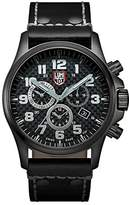 Luminox Atacama Field Chronograph Alarm Men's Quartz watch with Silver dial featuring LLT light Technology 45 millimeters Stainless Steel case and Black Leather Strap XL.1941