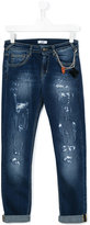 MSGM distressed denim jeans - kids - Cotton/Spandex/Elastane - 14 yrs