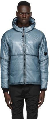 C.P. Company Blue Nylon Translucent Hooded Jacket