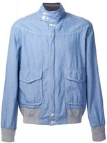 Sacai chambray jacket - men - Cotton - 3