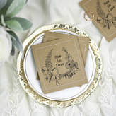 Paper Bea Wildflower Wedding Seed Packets With 'Floral Wreath'