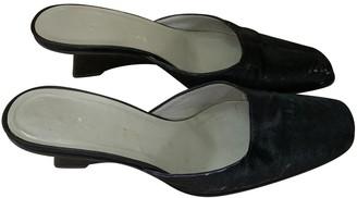 Prada Black Pony-style calfskin Sandals