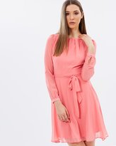 Dorothy Perkins Billie & Blossom LS Chiffon Dress