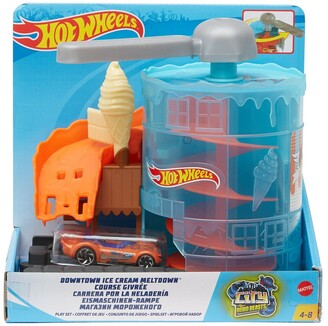 Mattel Hot Wheels(R) Downtown Ice Cream Meltdown Play Set