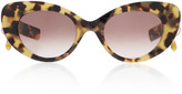 Pared Eyewear M'O Exclusive Poms & Pared Tortoiseshell Cat-Eye Sunglasses
