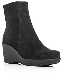 La Canadienne Women's Gavyn Waterproof Wedge Platform Booties