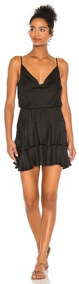 Bobi BLACK Boho Woven Mini Dress