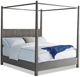 Palmer Canopy Bed - Driftwood - Brownstone Furniture - queen