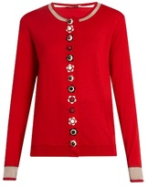 Fendi Flower-button cashmere-blend cardigan