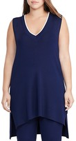 Lauren Ralph Lauren Plus V-Neck Sleeveless Tunic