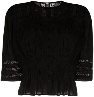 Mimi Prober Barton lace panelled blouse
