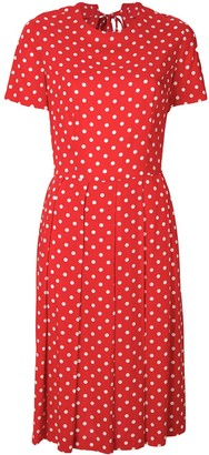 Comme Des Garçons Pre Owned Polka Dots Pleated Dress