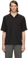 Martine Rose Black Collar Short Sleeve Shirt