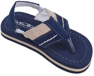 Star Bay Boys' Flip-Flops navy - Navy Stripe Flip-Flop - Boys
