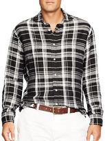 Polo Ralph Lauren Big and Tall Plaid Linen Shirt