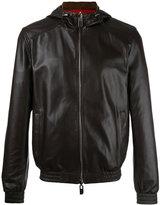 Bally reversible hooded jacket - men - Cotton/Lamb Skin/Nylon/Polyester - 48