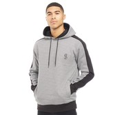 Fluid Mens Houndstooth Check Printed Hoodie Black/White