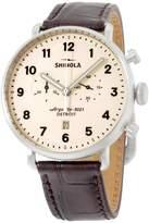 Shinola 20001943 Stainless Steel & Leather Quartz 43mm Mens Watch