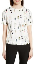 Ted Baker Women's Wepster Pleat Back Print Top
