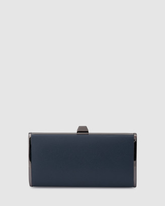 Olga Berg Women's Navy Clutches - Xander Saffiano Tear Drop Clutch - Size One Size at The Iconic