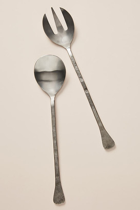 Anthropologie Stella Serving Set By in Silver Size SET OF 2