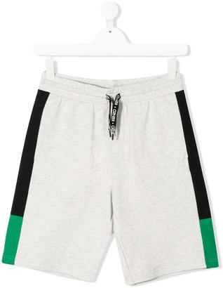 Kenzo Kids TEEN side striped shorts