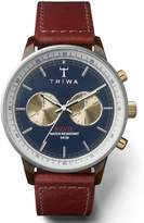 Triwa Duke Nevil Men's Chrono 2-Tone Watch Cognac Brown Strap NEAC118 SC010313