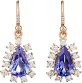 Irene Neuwirth Diamond Collection Women's White Diamond & Tanzanite Drop Earrings