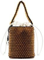 Jil Sander beaded leather bucket bag