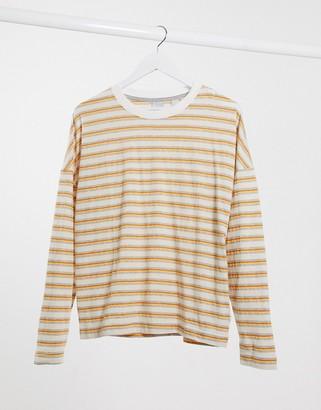 Quiksilver Fluids striped long sleeved t-shirt in orange