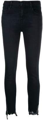 J Brand Low Rise Chewed Skinny Jeans
