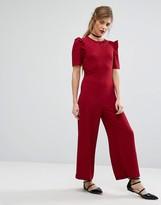 Fashion Union Ruffle Sleeve Jumpsuit