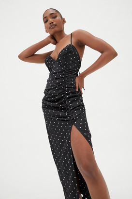 For Love & Lemons Carissa Polka Dot Midi Dress