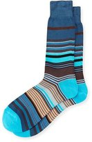 Paul Smith Fuel Multicolored Striped Socks, Navy
