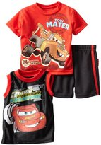 Disney Baby-boys Infant 3 Piece Knit Shirt with Pullover and Short