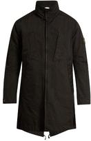 Stone Island David-tc Fishtail-hem Overcoat