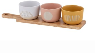 Davis & Waddell Mojave Stoneware Bowls on Rubberwood Paddle 4 Piece Set