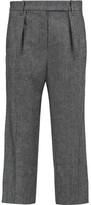 Brunello Cucinelli Wool-Blend Tweed Wide-Leg Pants