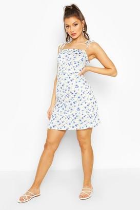 boohoo Floral Strappy Mini Dress