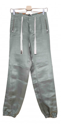 Ermanno Scervino Green Linen Trousers