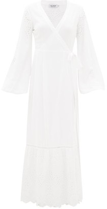 The Upside Kate Broderie Anglaise Wrap Dress - White