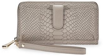 GiGi New York City Python-Embossed Leather Phone Wallet