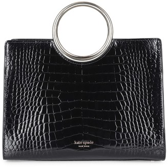 Kate Spade Sam Croc-embossed Leather Mini Satchel