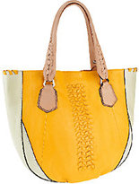 Oryany As Is Lyssie Soft Pebbled Leather Color-Block Tote