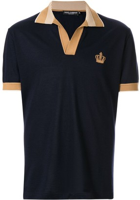 Dolce & Gabbana cashmere embroidered polo shirt