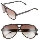 BOSS Men's 60Mm Aviator Sunglasses - Havana/ Brown Gradient